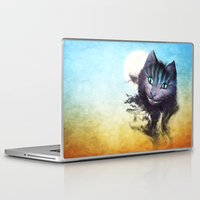 cheshire cat Laptop & iPad Skins featuring Cheshire Cat by Diogo Verissimo