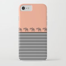 ELEPHANT & STRIPES CORAL Slim Case iPhone 7