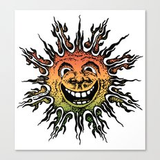 sun face - rasta Canvas Print