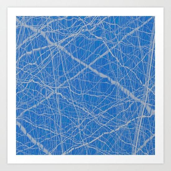 Tendrils, Blue Art Print