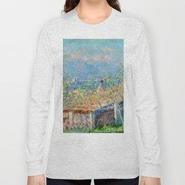 "Claude Monet ""Gardener's House at Antibes"", 1888 Long Sleeve T-shirt"
