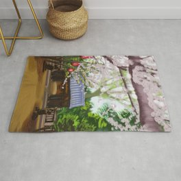 Cherry trees in Japan Rug