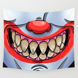 Scary Clown Face Wall Tapestry