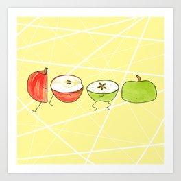 Apple Halves Art Print