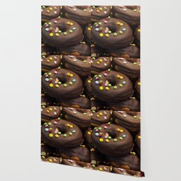 Donuts with colored candies Wallpaper