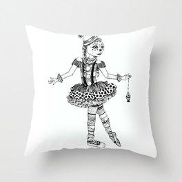 Clownerina Throw Pillow