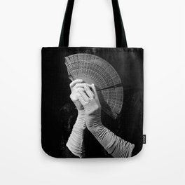 The white folding fan Tote Bag