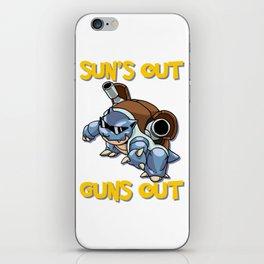 GUNS OUT BLASTOISE iPhone Skin