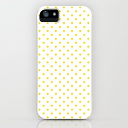 Dots (Gold/White) iPhone Case
