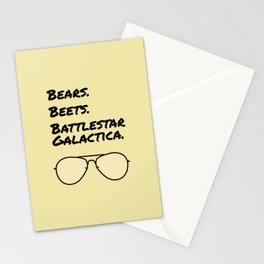 Bears. Beets. Battlestar Galactica. Stationery Cards