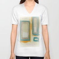 rothko V-neck T-shirts featuring Soft And Bold Rothko Inspired by Corbin Henry
