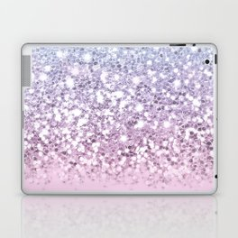 Sparkly Unicorn Pink Glitter Ombre Laptop & iPad Skin