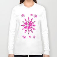 flower pattern Long Sleeve T-shirts featuring Flower Pattern  by Sammycrafts
