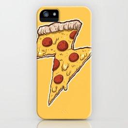 Thunder Cheesy Pizza iPhone Case