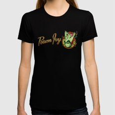 Poison Ivy Bombshell Black Womens Fitted Tee MEDIUM