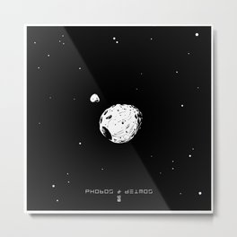 PHOBOS & DEIMOS Metal Print