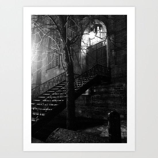 Dark Stairway Art Print