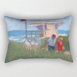 Red Flag Rectangular Pillow