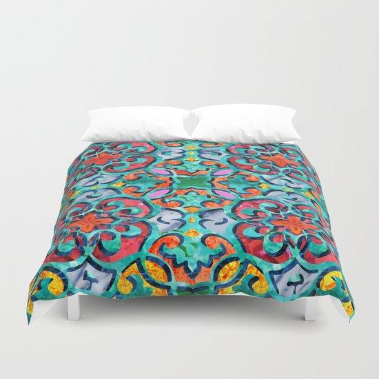 Moroccan Mandala Tile 01 Duvet Cover