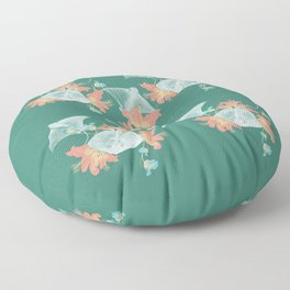 Lilies that sting Floor Pillow