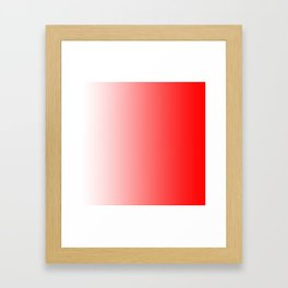 White and Red Gradient 022 Framed Art Print