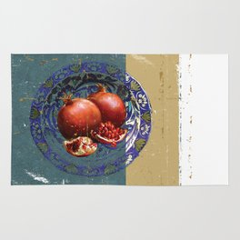 The Fine Art of Pomegranate in the Antique Plate! Rug