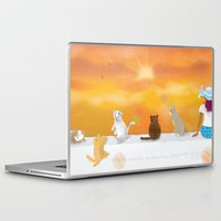 sunrise Laptop & iPad Skins featuring Sunrise by Graphic Tabby