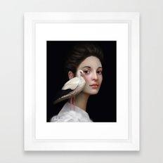 Miss Stork Framed Art Print