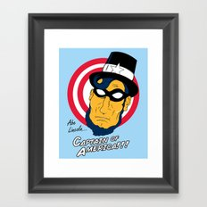 Abe, Captain of America Framed Art Print