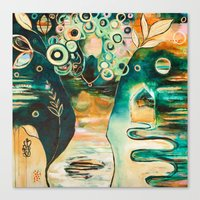 """flora bowley Canvas Prints featuring """"Thirty Six"""" Original Painting by Flora Bowley by Flora Bowley"""