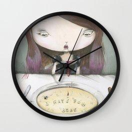 I HATE YOU DUDE! Wall Clock