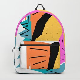 funny abstract design Backpack