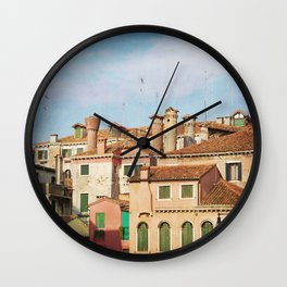 A Venetian View Wall Clock