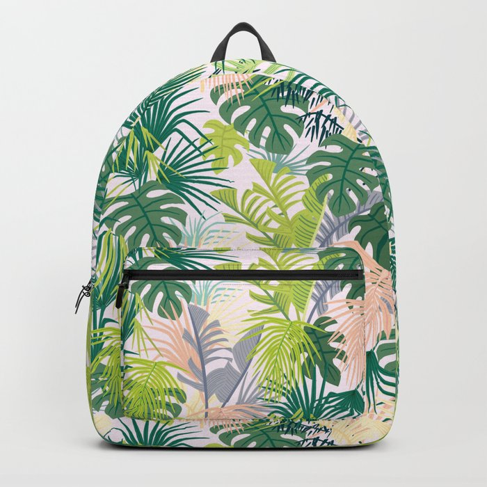 Pink jungle pattern Backpack