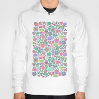 macaroon Hoodies featuring Macarons and flowers by Anna Alekseeva kostolom3000