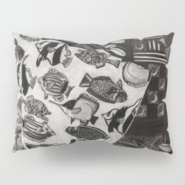 Charcoal Chaos Pillow Sham