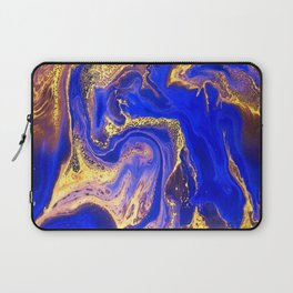 Marble gold and deep blue Laptop Sleeve