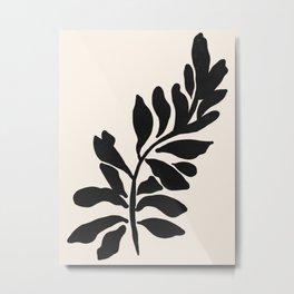 Single stem - night Metal Print