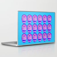 sugar skulls Laptop & iPad Skins featuring Sugar Skulls by Bex Parker
