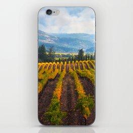 Autumn Vineyard Vista iPhone Skin