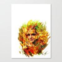 emma watson Canvas Prints featuring Emma Watson by ururuty