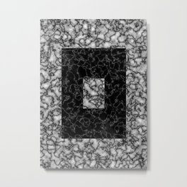 Black and white marble texture 4 Metal Print