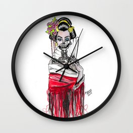 Geisha of Death Wall Clock