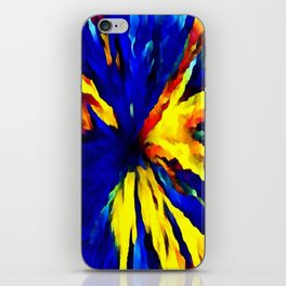 blue yellow iPhone Skin
