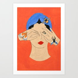 Insects & Turban Art Print