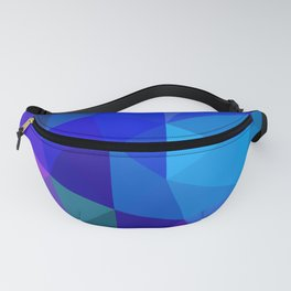 Sapphire Low Poly Fanny Pack
