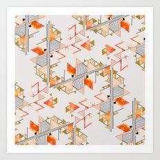 pyramid pattern Art Print