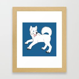 Husky (White) Framed Art Print