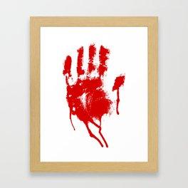 Halloween Bloody Handprint Framed Art Print