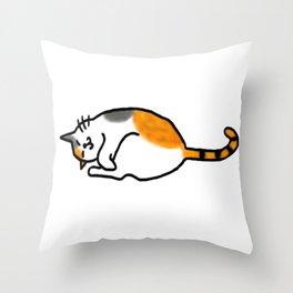 Comfy Calico Cat Throw Pillow